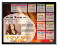 Hispanic You Go Girl Poster